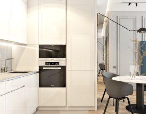 кухня на заказ белый глянец