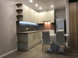 угловая кухня с фасадами глянец