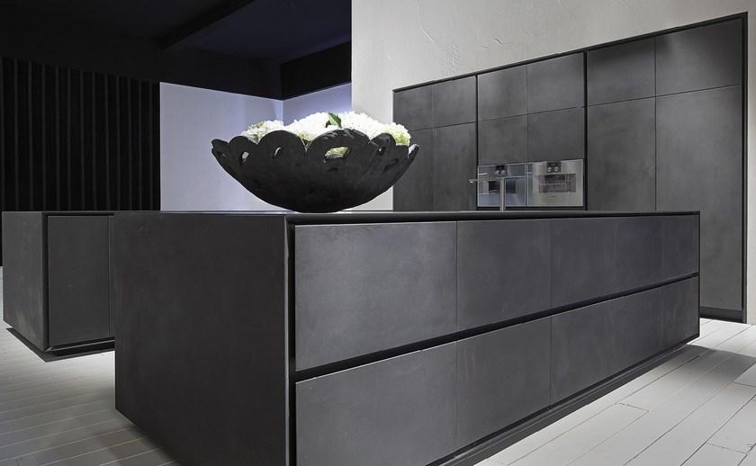 Кухня цементного цвета